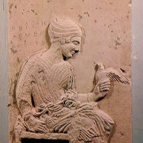 Grave relief of Aristila from Marion (Circa 420 BC). Local Museum of Marion-Arsinoe, Polis Chrysochous, MMA 276. © Department of Antiquities (photograph: Department of Antiquities).