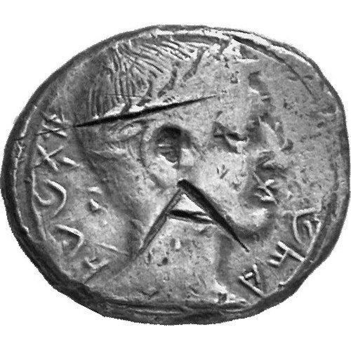 Μάριο, Βασιλέας Τιμοχάρης, AR σίγλος (11.07 γρ.), Staatliche Museen zu Berlin, χωρίς αρ. ευρ.