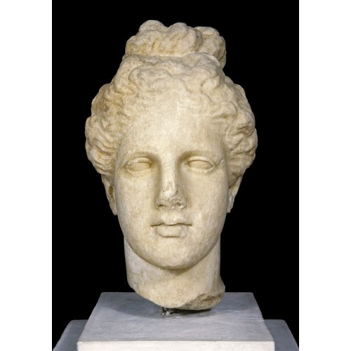 Cyprus Museum, Nicosia. Marble female head from Salamis. Height: 31.5 cm. 4th cent. BC. Inv. no. : 2.245. © The Cyprus Museum Archive. © The Cyprus Museum Archive.