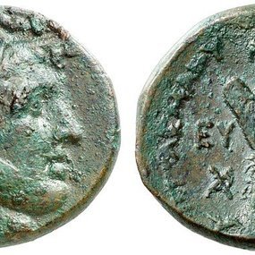 Bronze coin from Cyprus dated to the reign of Ptolemy I after 294 BC. Paul-Francis Jacquier 38, 13 September 2013, 169 (7,46 g, 23 mm). Sv. 363.