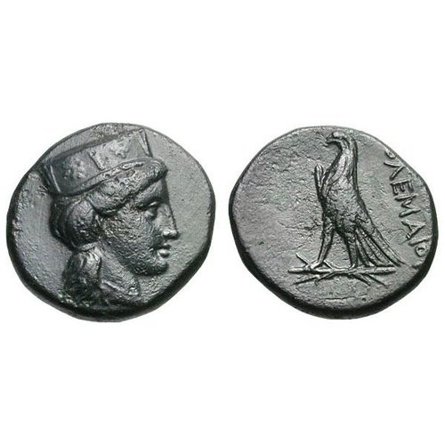 Ptolemy I, bronze coin from Cyprus with Aphrodite. Gemini V, 6 January 2009, 687 (7,60 g, 20 mm). Sv. 74.