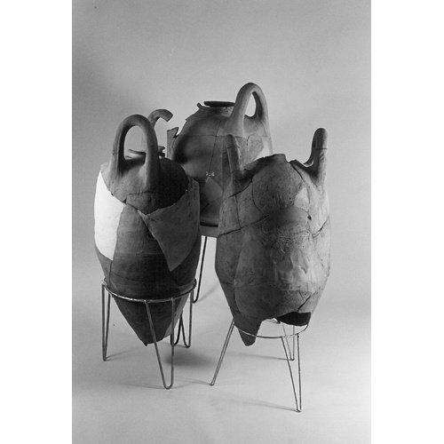 'Basket handle' amphorae from the Ma'agan Mikhael shipwreck (Photographer: David Ivan. Courtesy: Leon Recanati Institute for Maritime Studies, University of Haifa).