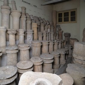 Burial columellae from different parts of Cyprus (Hellenistic and Roman). Cyprus Museum, Nicosia.