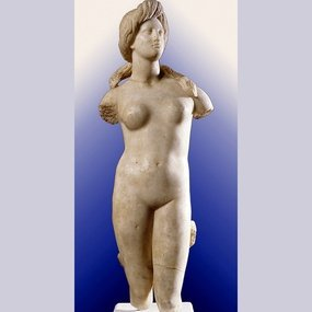 Marble statue of Aphrodite. From Soloi. Ht.: 81 cm. 1st century BC. Cyprus Museum.