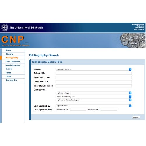 The bibliographical database of the CNP's website in the University of Edinburgh