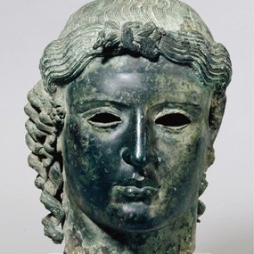 "Head of the ""Chatsworth"" Apollo from Tamassos-Politiko, 460-450 BC, British Museum, Greek & Roman Antiquities, (Inv. number: 1958,0418.1), © Trustees of the British Museum."