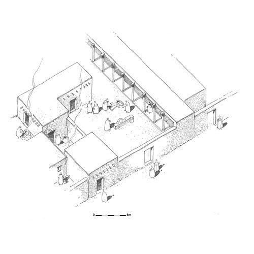 Αποκατάσταση της κυπρο-αρχαϊκής Ι φάσης του ιερού Κιτίου-Παμπούλας (©  Γαλλική αρχαιολογική αποστολή Κιτίου και Σαλαμίνας, O. Callot)