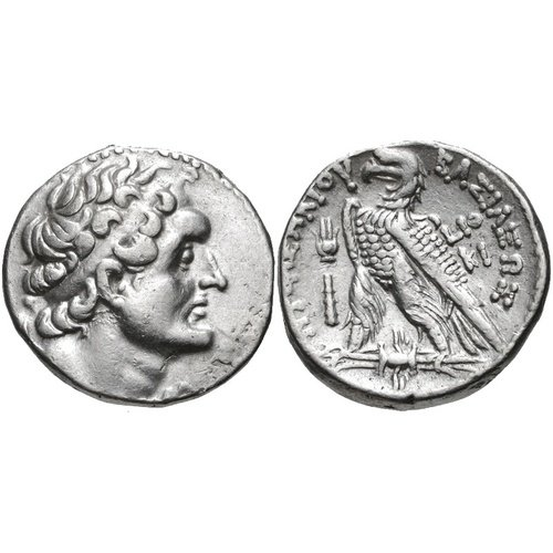 Tetradrachm from Kition dated to the 19th year of Ptolemy VI=163/2. CNG e-Auction 254, 20 April 2011, 146 (14,21 g, 25 mm, 45 h). Sv. 1364.