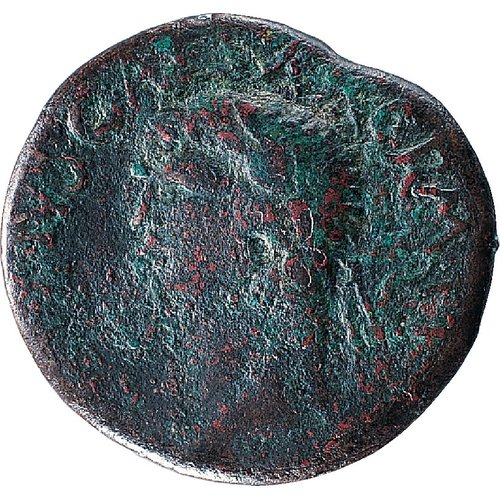 Claudius, AD 41-54 Sestertius, AE, 18.84 gm, 34 mm, axis 12:00 Obv.: Head of Claudius left, wearing laurel wreath; around, [TI CLAVD]IVS CAESAR [AVG P M TR P] IMP CPM TP. Rev.: KOINO / KYΠPI/ωN within laurel wreath. BCCF 1964-01-01