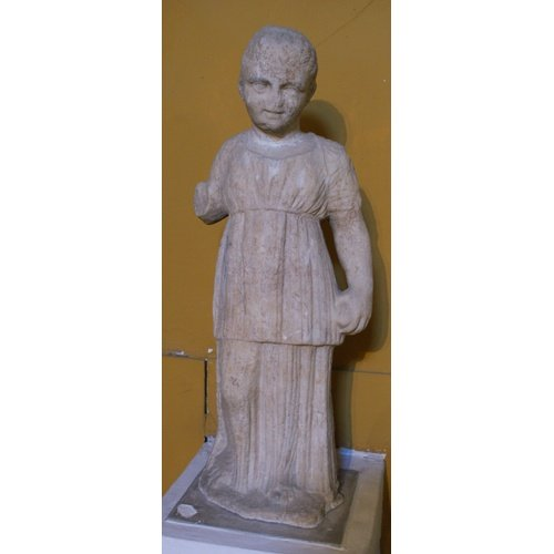 Statuette of a child, marble, from Paphos, Nicosia, Cyprus Museum E 509, by permission of the Department of Antiquities of Cyprus (photo G. Koiner).