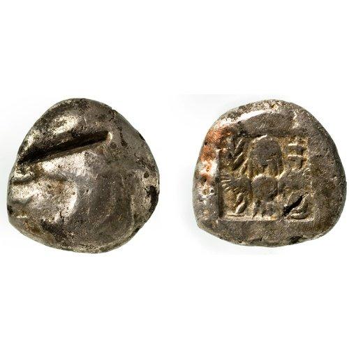 Αργυρά νομίσματα με δοκιμαστικές κοπές.