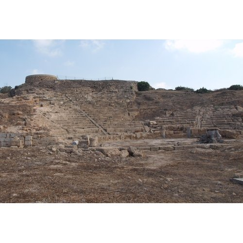 The theater of Nea Paphos (courtesy of the Director of the Department of Antiquities, Cyprus).