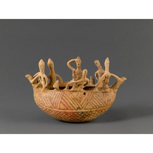 Musée du Louvre, Paris: Terracotta model of a ship with crew. Inv. No. AM 1972. Middle Cypriote II ware, circa. 1850-1750. Height: 16.7cm. Provenance uncertain. Photo courtesy of the Museum.