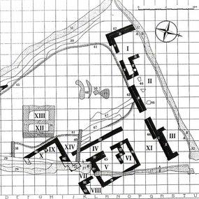 Κάτοψη του ιερού της Αγίας Ειρήνης (Gjerstad κ. ά. 1935, 665)