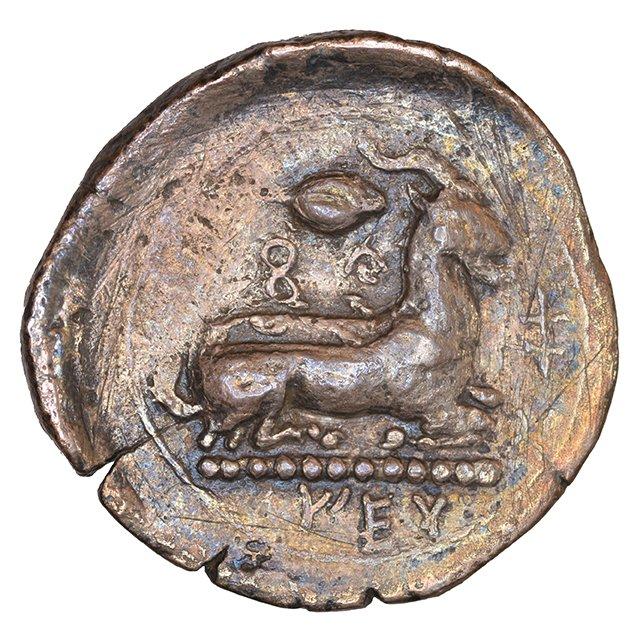 Οπισθότυπος Σαλαμίνα, Ευαγόρας Α΄, SilCoinCy A1085