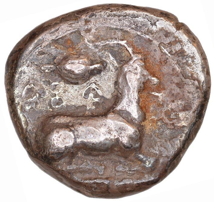 Οπισθότυπος Σαλαμίνα, Ευαγόρας Α΄, SilCoinCy A1086