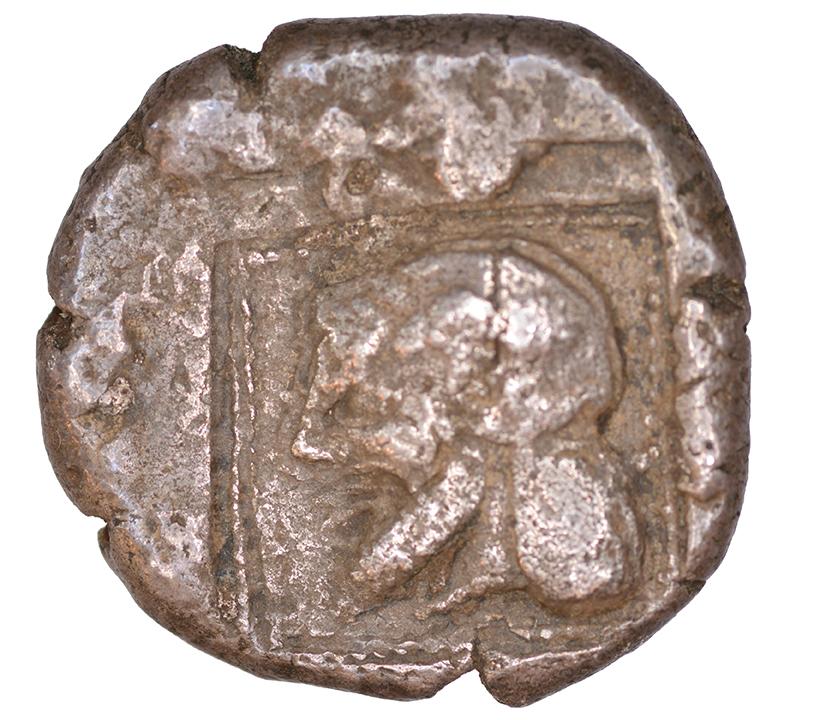 Οπισθότυπος Αβέβαιο κυπριακό νομισματοκοπείο, Αβέβαιος βασιλέας Κύπρου (αρχαϊκή περίοδος), SilCoinCy A1104