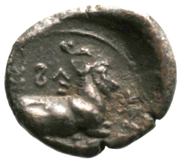 Οπισθότυπος Σαλαμίνα, Ευαγόρας Α΄, SilCoinCy A1854