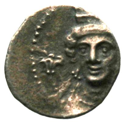Εμπροσθότυπος Νομισματοκοπείο Κιλικίας ;, Ευαγόρας Β΄ (όχι ως βασιλέας Σαλαμίνας), SilCoinCy A1872