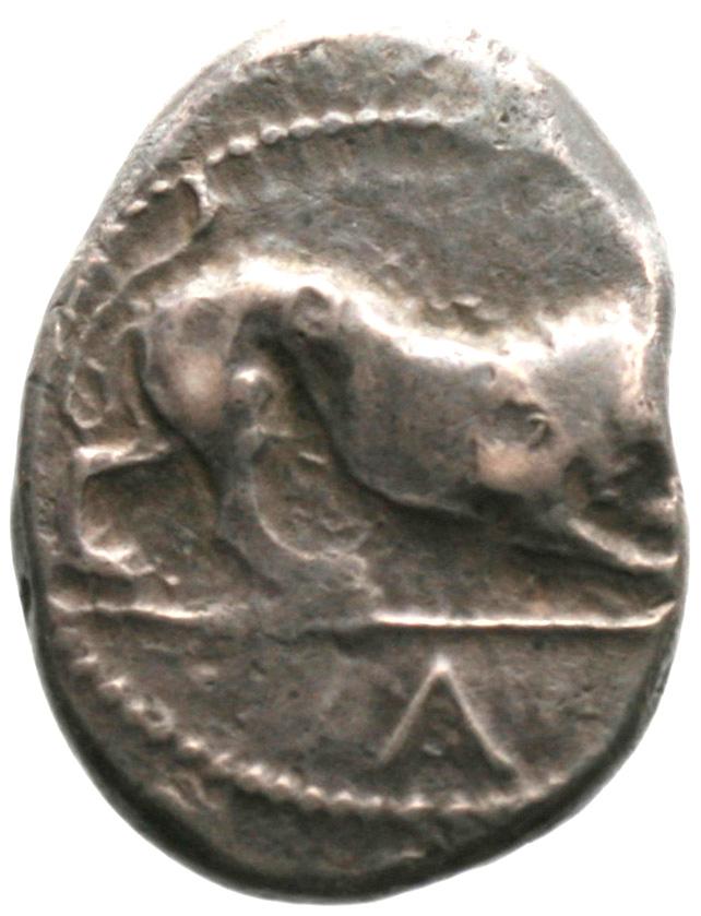 Εμπροσθότυπος Αβέβαιο κυπριακό νομισματοκοπείο, Αβέβαιος βασιλέας Κύπρου (αρχαϊκή περίοδος), SilCoinCy A1900