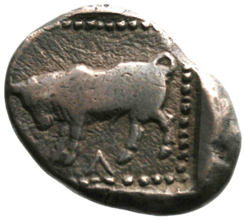 Οπισθότυπος Αβέβαιο κυπριακό νομισματοκοπείο, Αβέβαιος βασιλέας Κύπρου (αρχαϊκή περίοδος), SilCoinCy A1900