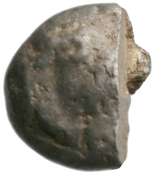Εμπροσθότυπος 'SilCoinCy A1936, acc.no.: . Silver coin of king Evelthon of Salamis 525 - 500 BC. Weight: 7.29g, Axis: 12h, Diameter: 17mm. Obverse type: Ram recumbent l.. Obverse symbol: -. Obverse legend: - in -. Reverse type: Smooth. Reverse symbol: -. Reverse legend: - in -.