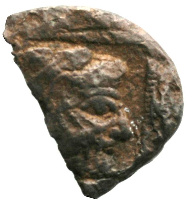 Οπισθότυπος 'SilCoinCy A1941, acc.no.: . Silver coin of king Uncertain king of Cyprus (archaic period) of Uncertain Cypriot mint  - . Weight: 6.1g, Axis: 12h, Diameter: 19mm. Obverse type: -. Obverse symbol: -. Obverse legend: - in -. Reverse type: -. Reverse symbol: -. Reverse legend: - in -.
